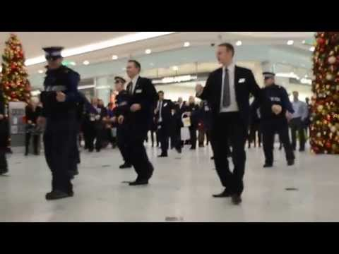 Canary Wharf security flashmob