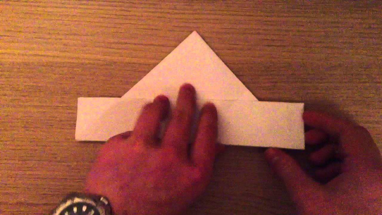 Faire un chapeau en papier pliage origami youtube - Pliage chapeau papier ...