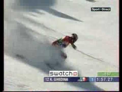 Kristian Ghedina - Spaccata a 140 km/h (c'est maquifique!)