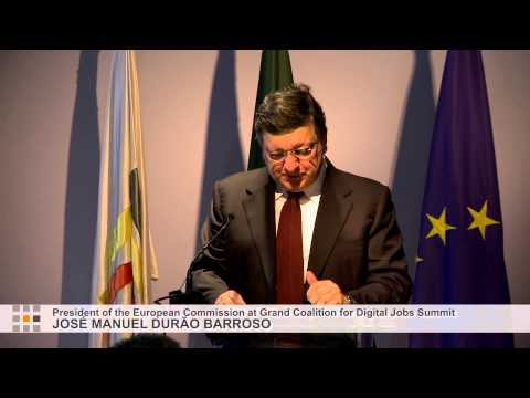 DURÃO BARROSO SPEECH @ Grand Coalition for Digital Jobs Summit, Portugal