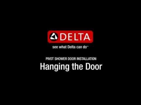 No Top Track Style Pivot Shower Door   Hanging the Door Step (SD)