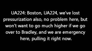 United Airlines Emergency Landing in Boston (ATC Conversations)