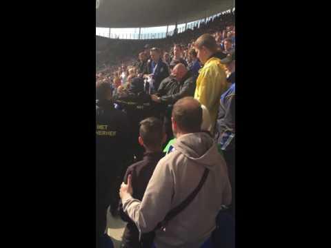 Hoffenheim - Schalke 1:4 14.05.2016 letzter Spieltag. SCHWARZGELBE SCHEISSE. Ordner prügeln Fan