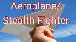 Paper Airplane:Flying toy/Stealth Fighter 🤩Kids Craft/Orgami/world record/Ho to make by Hungry Bell