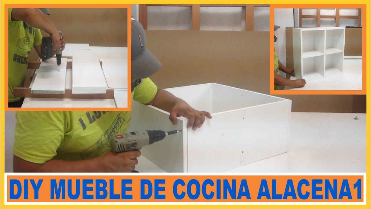 Como hacer muebles m dulo alacena de cocina en melamina for Alacenas para cocina