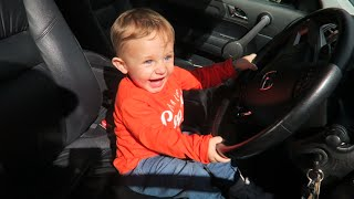 BABY DRIVING A CAR!?