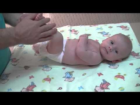 Массаж для 3 месячного ребенка в домашних условиях видео