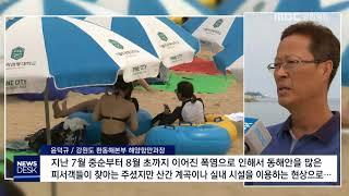 R)해수욕장 폐장, 폭염으로 피서객 급감