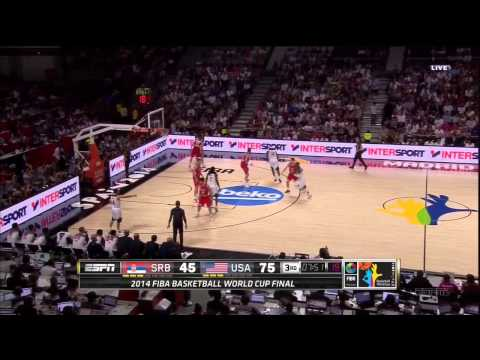 USA vs. Serbia highlights - 9-14-14 World Cup Final FIBA 2014