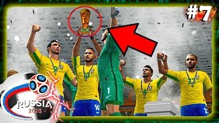 BRASIL HEXA!? A FINAL DA COPA DO MUNDO DA RÚSSIA 2018 - PES 2018 (PS2)