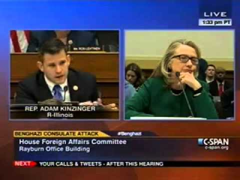 Rep Kinzinger questions Sec Clinton about the attack on the US consulate in Benghazi