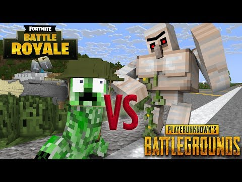 Monster School: FORTNITE vs PUBG Part 1 - Minecraft Animation