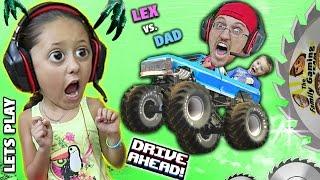 Monster Trucks On My Head Duddy Vs Lex Lets Play Drive Ahead Fgteev Crashing Stunt Vehicles