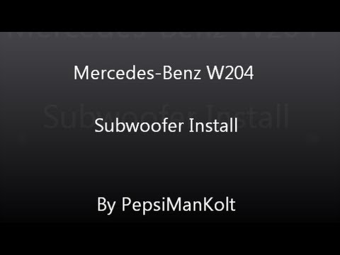 Mercedes Benz C Class W204 Subwoofer and Amp Install YouTube