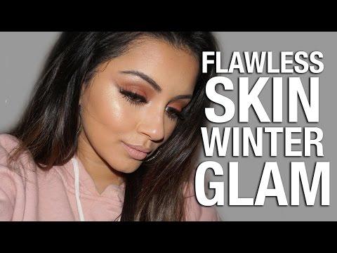 FLAWLESS BASE + Warm Reverse Smokey Liner Makeup Tutorial | Ad