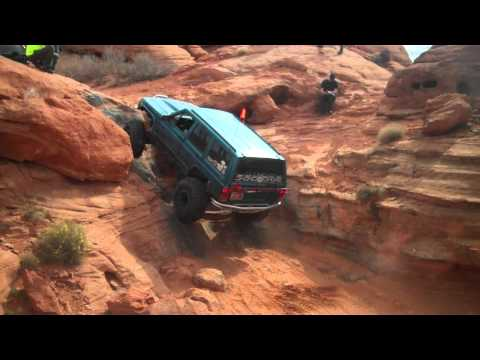 Cherokee XJ The Maze Trail, St. George, Utah Winter On The Rocks