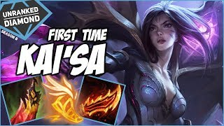FIRST TIME KAI'SA - Unranked to Diamond - Ep. 89 | League of Legends