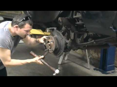 dodge ram  front axle u joint and hub replacement  how to 4x4 4 wheel drive