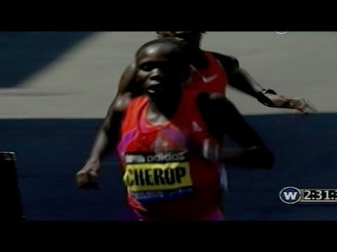 Cherop wins 2012 Boston Marathon (Race Highlights)