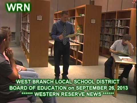 WEST BRANCH SCHOOLS BOARD of EDUCATION