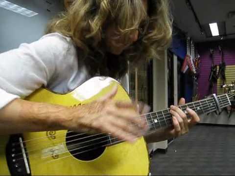 Vicki Genfan playing her new signature Luna guitar!