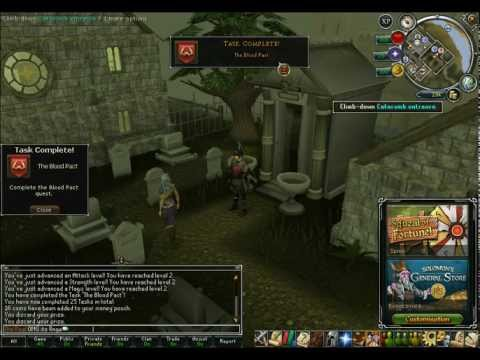 Runescape: The Blood Pact Quest Guide 2013! (Commentary)