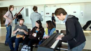 Sixth Floor Trio plays at the San Jose Airport