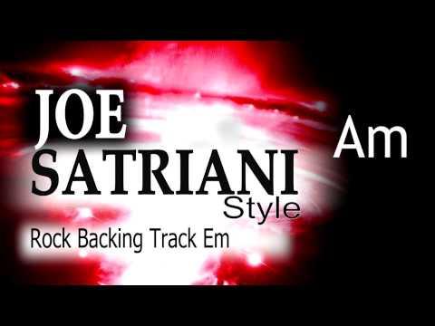 Rock Guitar Backing Track Joe Satriani Style #2  Em 137bpm