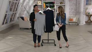 AnyBody Ribbed Brushed Hacci Tunic w/ Kangaroo Pocket on QVC