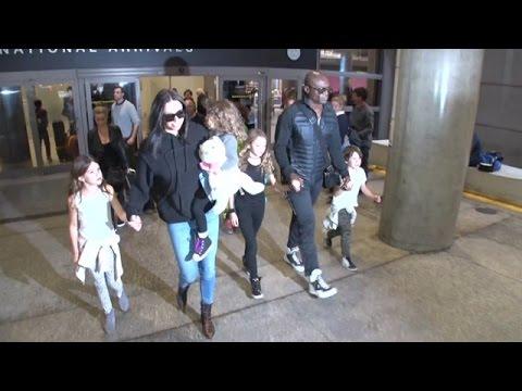 Seal And Erica Packer Nearly Run Into Heidi Klum At LAX