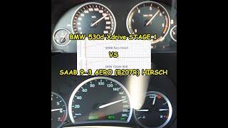 Comparision 100-200km/h my two tuned cars BMW F11 530dX & SAAB Aero Hirsch