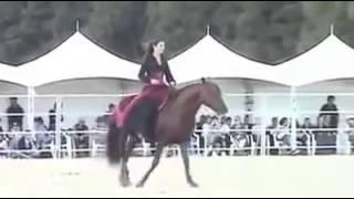 بنت اردنيه فارسه ترقص حصان  روعه
