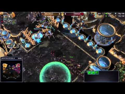 Dimaga vs. Word - PvZ - Game 1 - StarCraft 2