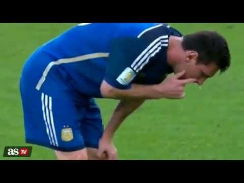 Messi vomit vs Germany - Brazil World Cup Final 13-07-2014