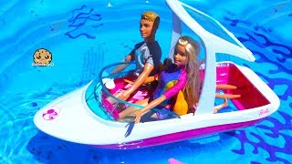 Boat Trip ! Dolphin Magic Barbie Sets Part 2 ! Pool Water Play Dolls