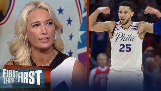 The future of Philadelphia is Ben Simmons and Joel Embiid - Sarah Kustok | NBA | FIRST THINGS FIRST
