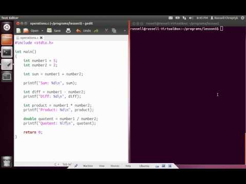Learn Programming in C - Lesson 5 - Operations with Variables