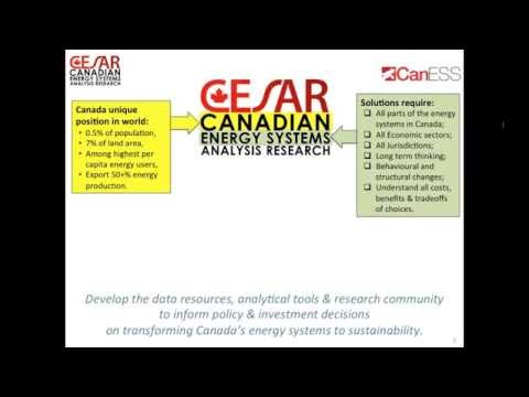 Webinar: Towards Sustainable Energy Systems - An Introduction to CESAR & CanESS