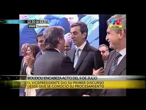 El no abrazo entre Amado Boudou y Florencio Randazzo