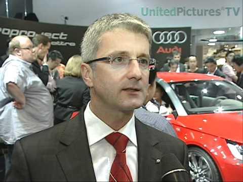 Tokyo Motor Show 2007 Interview Rupert Stadler, Audi