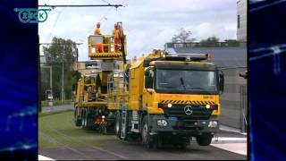 ZECK Catenary Installation Unit BM Z921 on rail/road truck