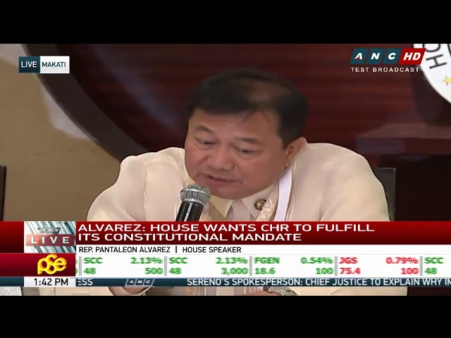 Want funding? Alvarez says CHR must justify its programs