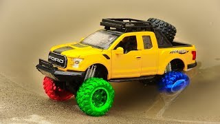 Pickup truck go to find friends - Car toys for children H938H