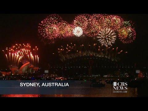 2015 New Year's Day around the globe