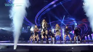 Download Song BLACKPINK - '휘파람 (WHISTLE)' + '불장난 (PLAYING WITH FIRE)' in 2016 SBS Gayodaejun Free StafaMp3
