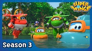 Lost In the Everglades | super wings season 3 | EP04