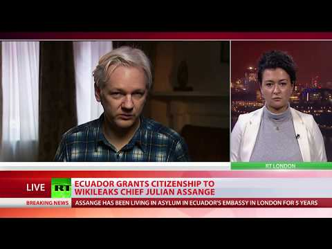 Ecuador grants citizenship to Assange – FM