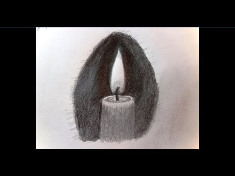 How to draw a Candle Flame Step by Step - Pencil Drawing - ComeTube