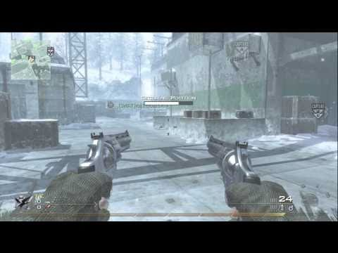 MW2 Gameplay - Akimbo Magnum fun on Sub Base