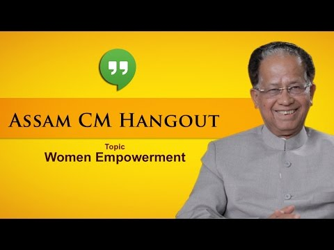 Google Hangout with Hon'ble CM of Assam Sjt Tarun Gogoi